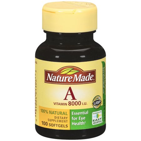 Nature Made Vitamin A Softgels  100Ct
