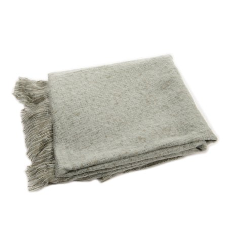 Blue Gray Knitted Waffle Pattern Christmas Throw Blanket 50