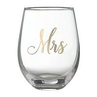 Lillian Rose Mrs. Stemless Wine Glass