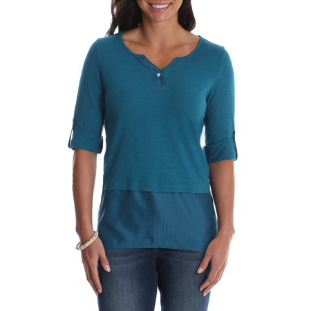Reversible Knit Top - Women's Henley Knit Top