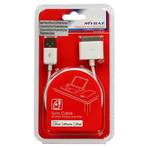 30 Pin USB Sync Adapter Cable for iPad 1 2 3 iPhone 3G 4 4S