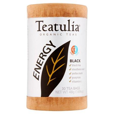 Teatulia énergie noire thés bio 30 sachets de thé 1,69 oz