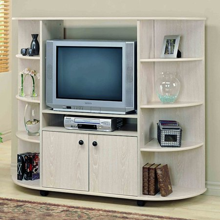 Monarch Specialties Washed Oak 32-inch TV Entertainment Center