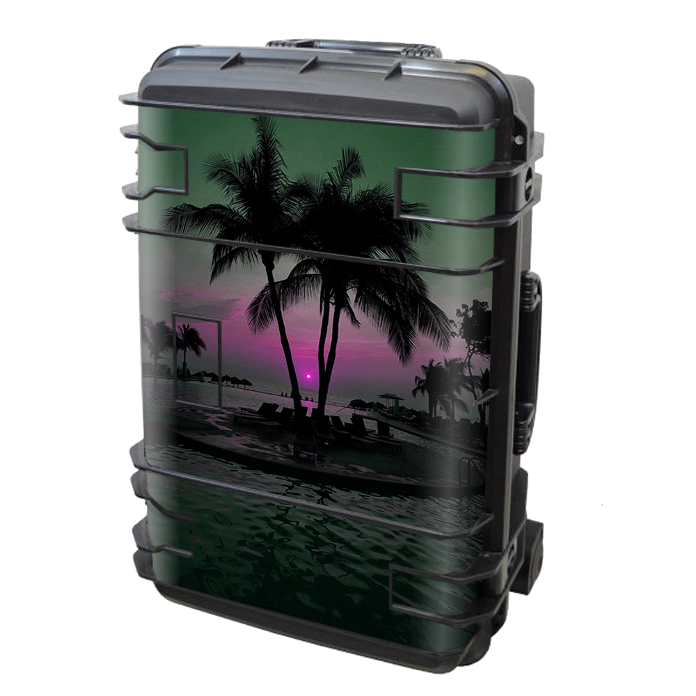 Skin Decal Vinyl Wrap for Seahorse SE-920 Case Skins Stickers Cover / Sunset Tropical Paradise Poolside