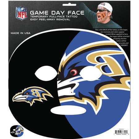 NFL Baltimore Ravens Game Day Face Temporary Tattoo (Tattoos Games)