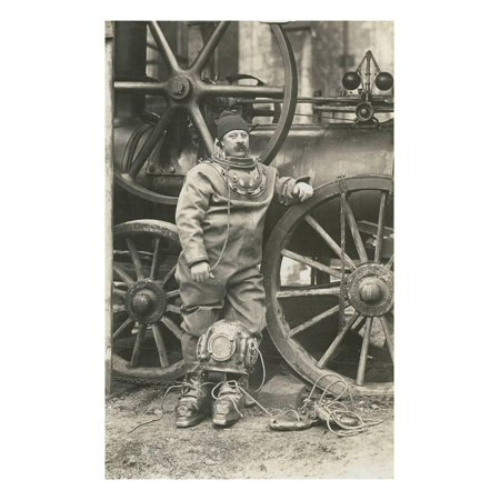 Deep Sea Diver with Giant Pump Print Wall Art](Deep Sea Diver Outfit)