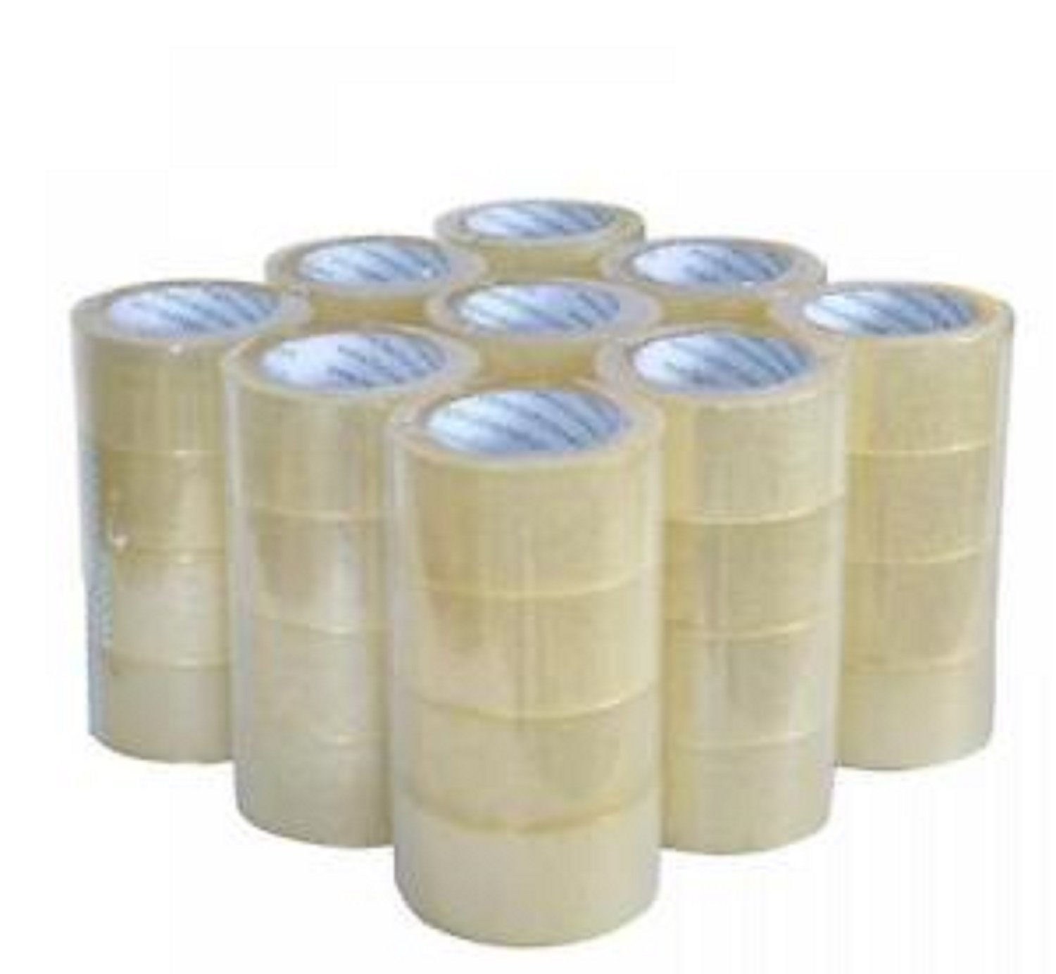 Heavy Duty Sealing Packing Tape - 12 Rolls, 2.1mil thick, 55 Yards, 165Ft