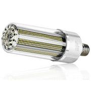 YLHHOME 80W-200W Corn LED Light Bulb Built-in Fan E26/E27/E39/E40 Base LED Bulb for Commercial Ceiling Lighting Garage Shop Factory
