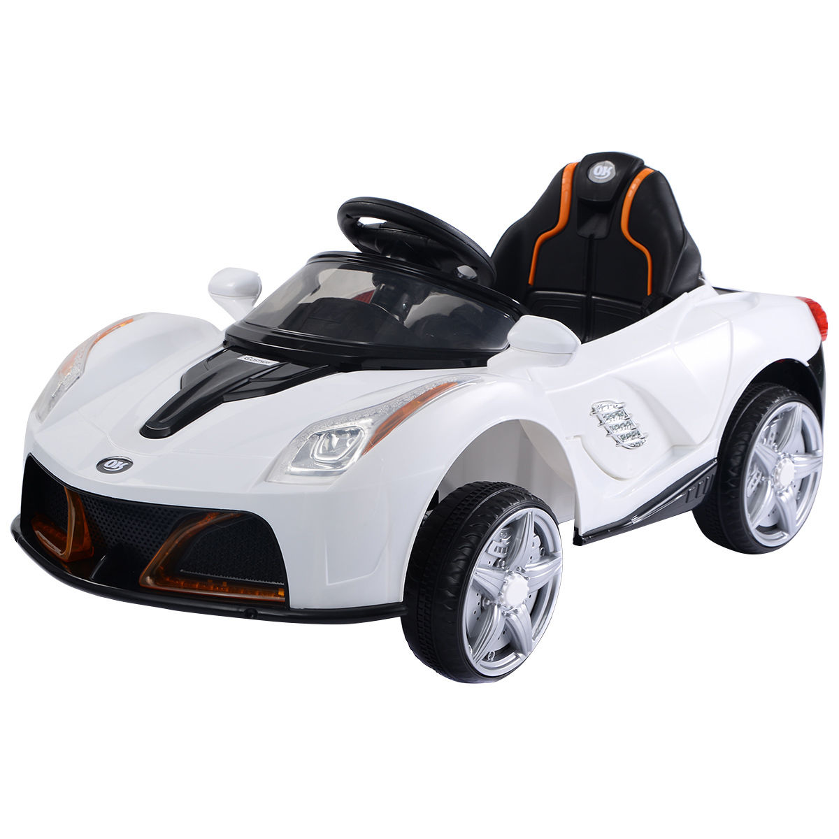 12V Battery Powered Kids Ride On Car RC Remote Control w  LED Lights Music by Costway