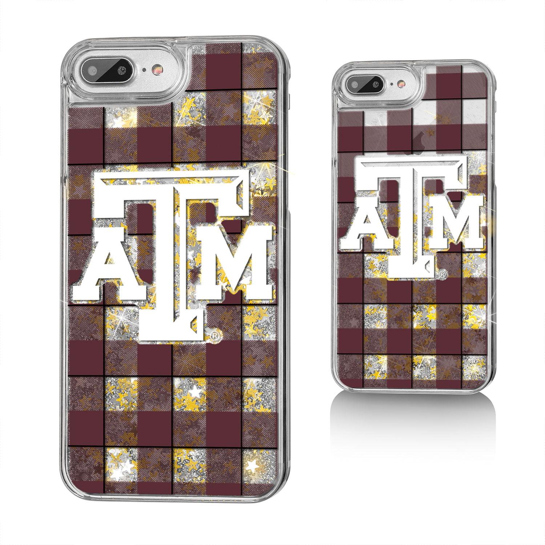 ATM Texas A&M Aggies Plaid Glitter Case for iPhone 8 Plus / 7 Plus / 6 Plus