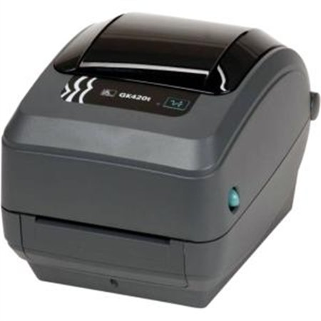 ZEBRA PRINTER - ZEBRA AIT,GK420T,203 DPI,THERMAL TRANSFER,EPL AND ZPL,USB,10/100 ETHERNET,6FT (Fax 575 Thermal Transfer)