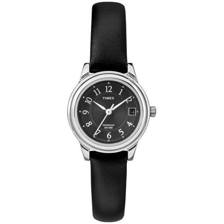 Timex Women's Porter Street Black Leather Strap Watch