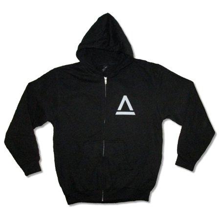 Saint Asonia Album Cover Art Black Zip Sweatshirt Hoodie Three Days Grace