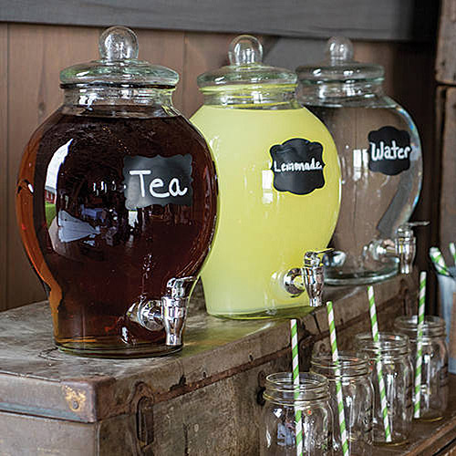 country chic glass beverage dispenser - Beverage Dispensers