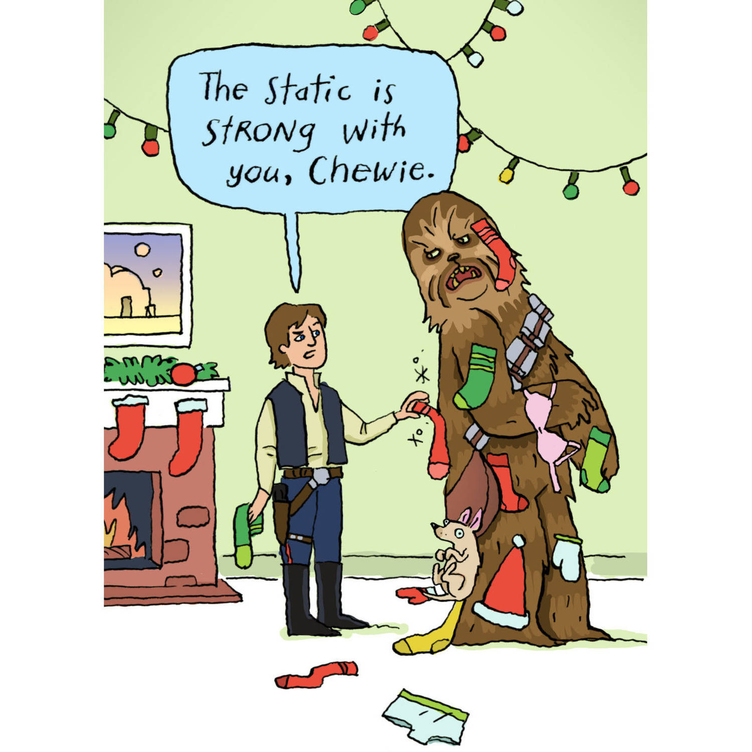 DaySpring Fun Boxed Christmas Cards, Star Wars Chewie, 18pk ...