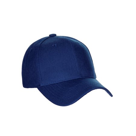 men's basic baseball cap velcro adjustable curved visor hat