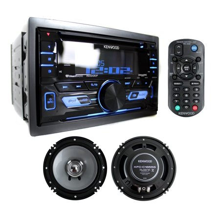 Kenwood DPX502BT Double Din Bluetooth Car CD Player Receiver + 2) 6 5