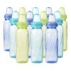 Evenflo Feeding Classic Tinted BPA-Free Plastic Baby Bottles - 8oz, Teal/Green/Blue, 12ct