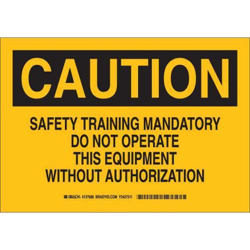 Caution Sign, Brady, 127688