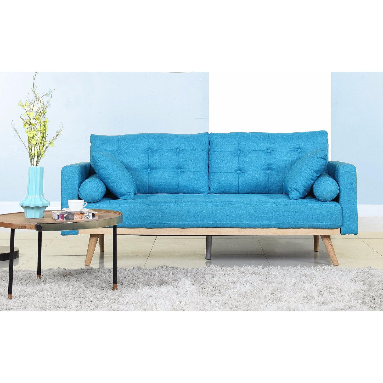 Madison Home Tufted Linen Mid-century Modern Sofa - Walmart.com