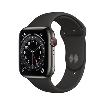 Apple Watch Series 6 GPS + Cellular, 44mm Graphite Stainless Steel Case