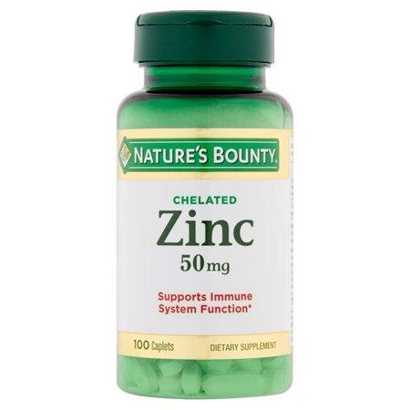 Nature's Bounty chélate de zinc 50mg 100 Caplets