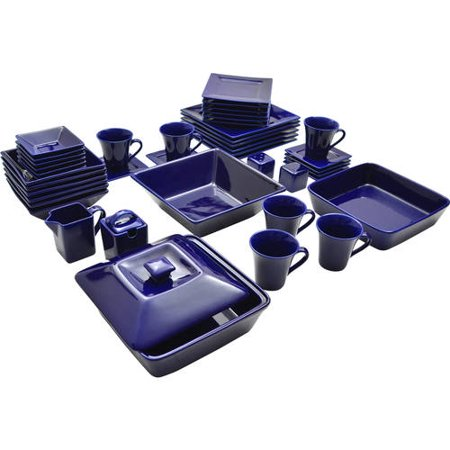 10 Strawberry Street Nova Square Banquet 45-Piece Dinnerware (Gear Setback Plate)