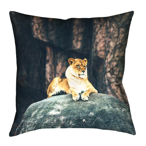 Bloomsbury Market Thatcher Lioness Square Indoor Pillow Cover
