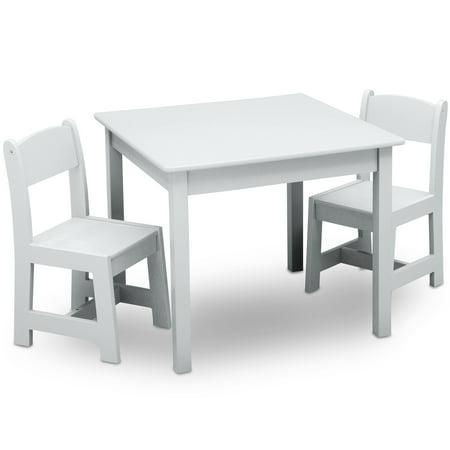 Super Delta Children Classic Kids Table And Chair Set Bianca White Uwap Interior Chair Design Uwaporg