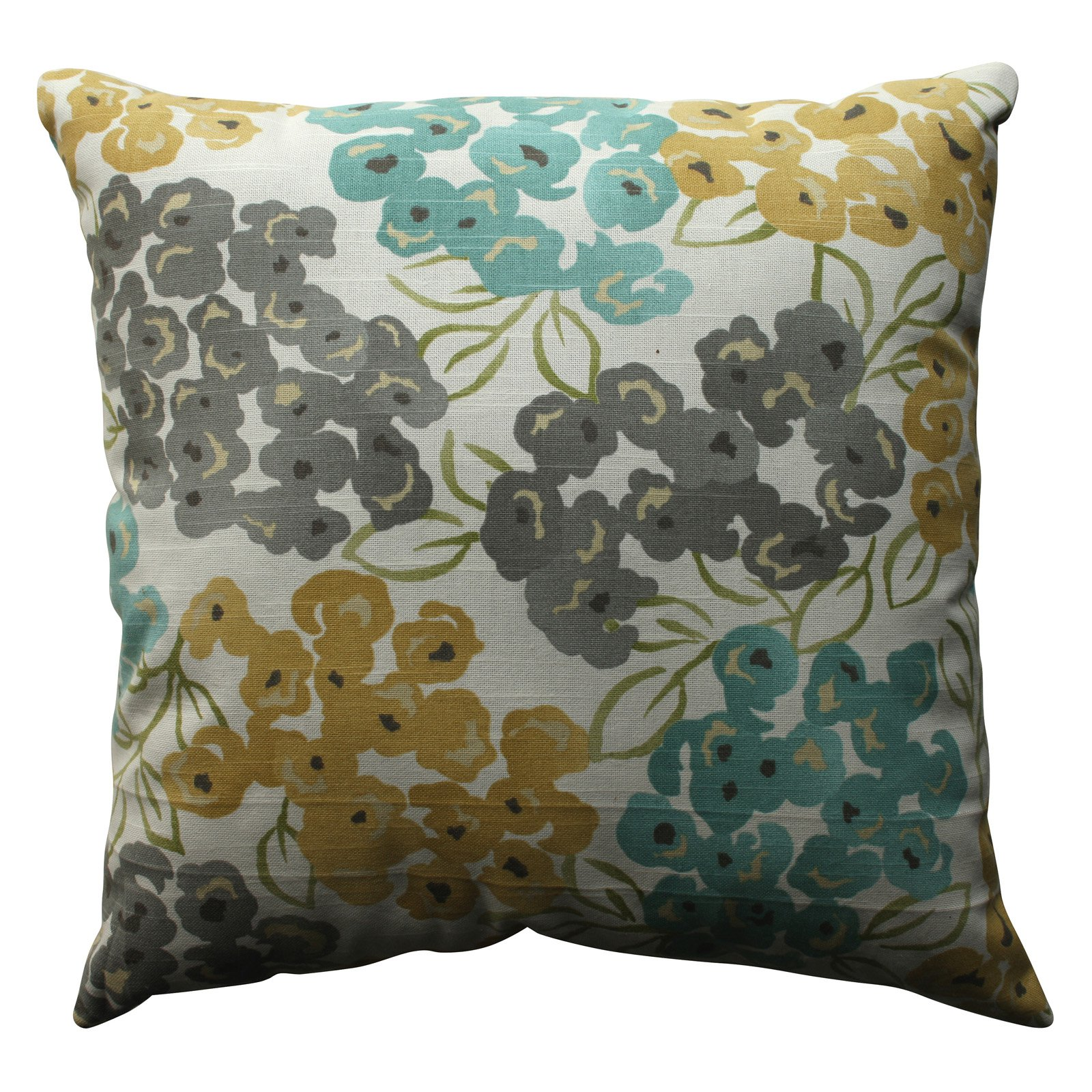 Pillow Perfect Luxury Floral Pool Throw Pillow
