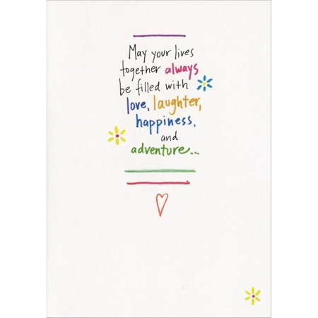 Recycled Paper Greetings May Your Lives Together Wedding / Marriage Congratulations