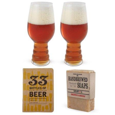 1 Piece Beer (IPA Beer Lovers Gift Set - 4 Pieces - Includes Spiegelau IPA Glasses )