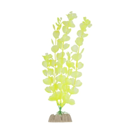 (2 Pack) GloFish Yellow Fluorescent Aquarium Plant Decoration, Large ()