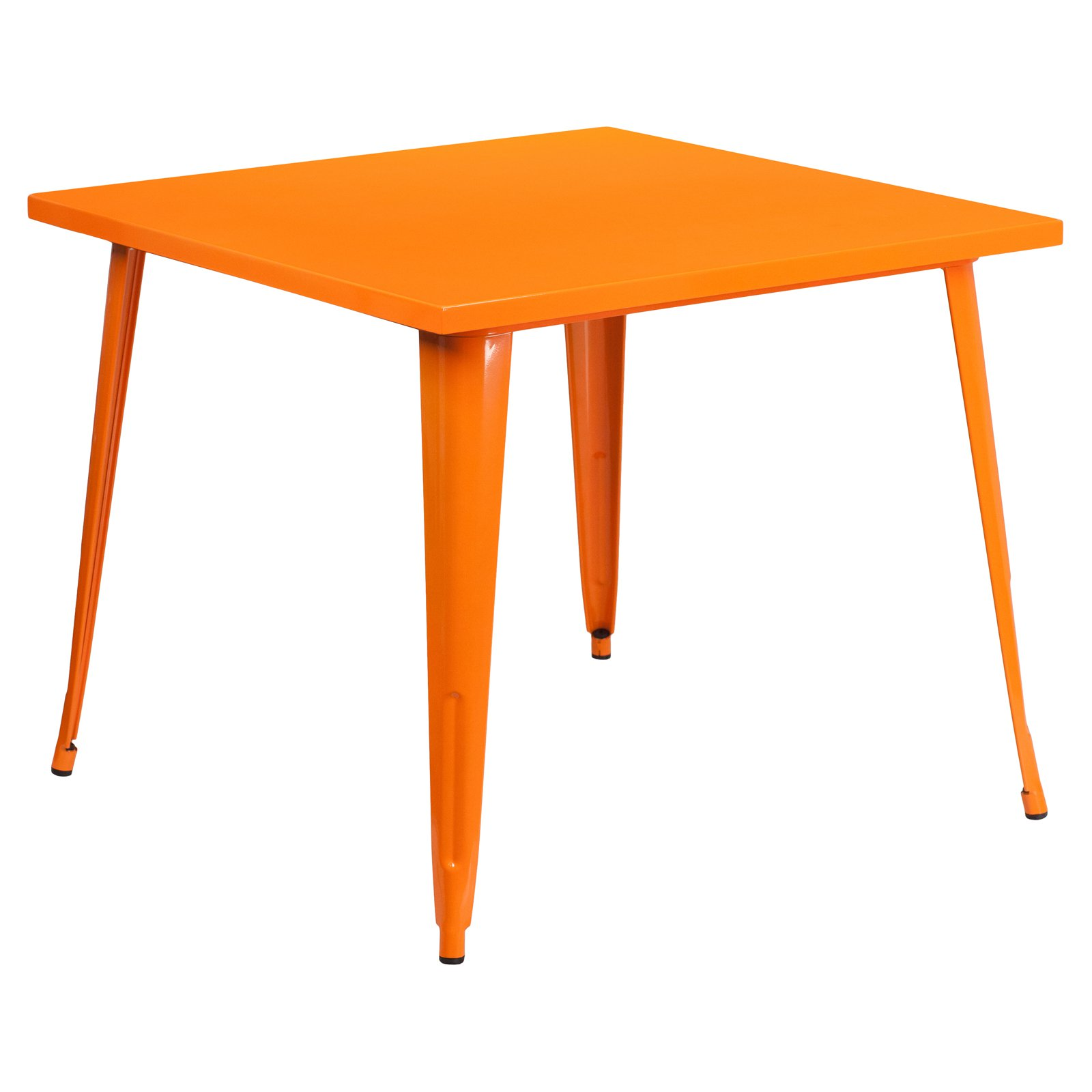 """Flash Furniture 35.5"""" Square Metal Indoor-Outdoor Table, Multiple Colors"""