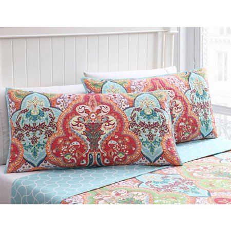 Better homes and gardens jeweled damask king shams set of - Better homes and gardens pillows ...