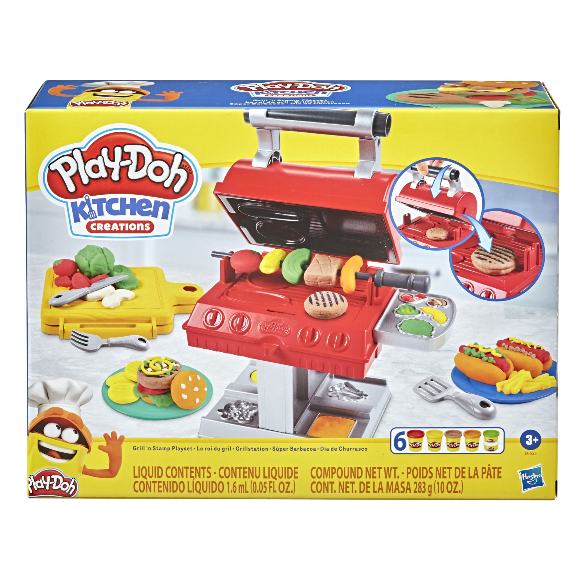 Play Doh Kitchen Creations Grill N Stamp Playset 10 Ounces Compound Total Walmart Com Walmart Com