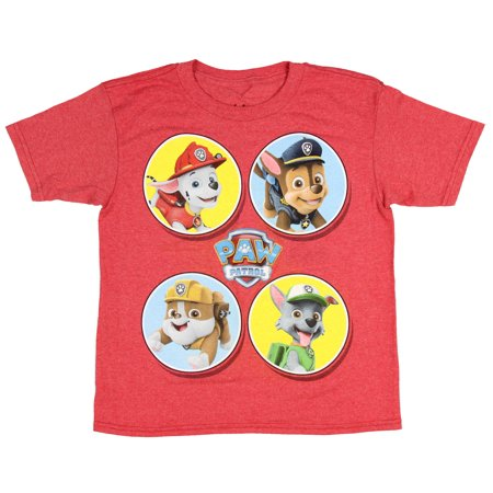 Paw Patrol T Shirt Little Boys Nickelodeon TV Show Cartoon Characters Tee - Boy Cartoon Character