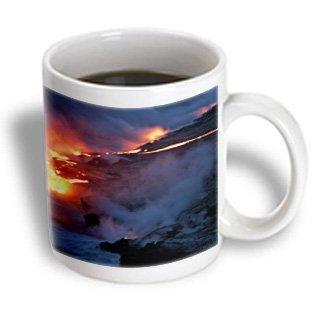 3dRose Lava flowing into the Pacific Ocean,  Volcanoes National Park,  Big Island, Hawaii, Ceramic Mug, - Lava Flow Recipe