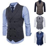 SUNSIOM Men Formal Casual Dress Vest Suit Slim Fashion Tuxedo Waistcoat Coat Outwear Hot