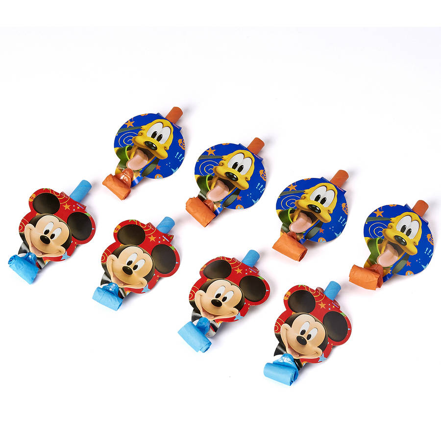 Mickey Mouse Clubhouse Party Blowers, Pack of 8, Party Supplies