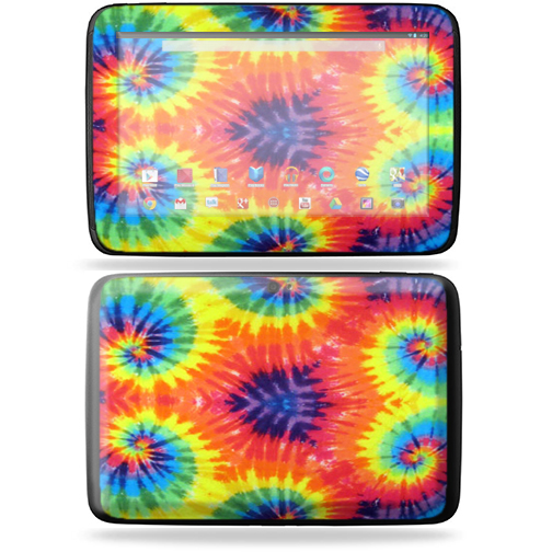 "Mightyskins Protective Skin Decal Cover for Samsung Google Nexus 10 Tablet with 10"" screen wrap sticker skins Tie Dye 2"