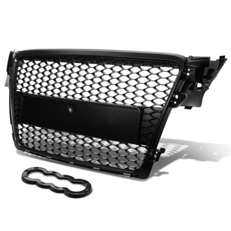 Audi A4 Quattro ABS Plastic Honeycomb Mesh Style Front Grille (Black) - B8 Typ