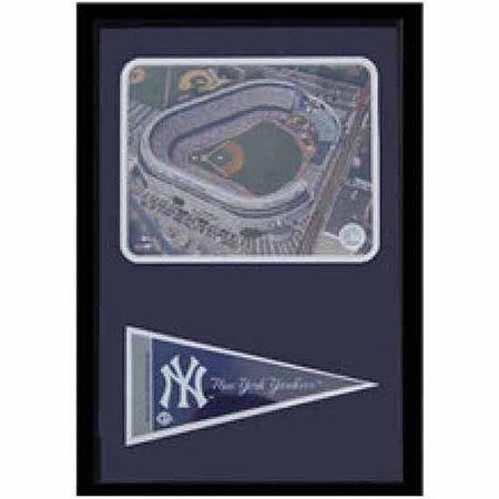 Yankee Stadium Musical Globe - MLB Yankee Stadium 12x18 Pennant Frame
