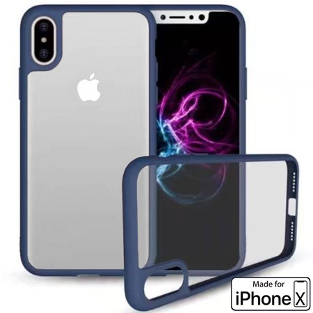 Apple iPhone X Case Crystal Clear Protector Shockproof Soft Cover (Blue) - image 3 of 3
