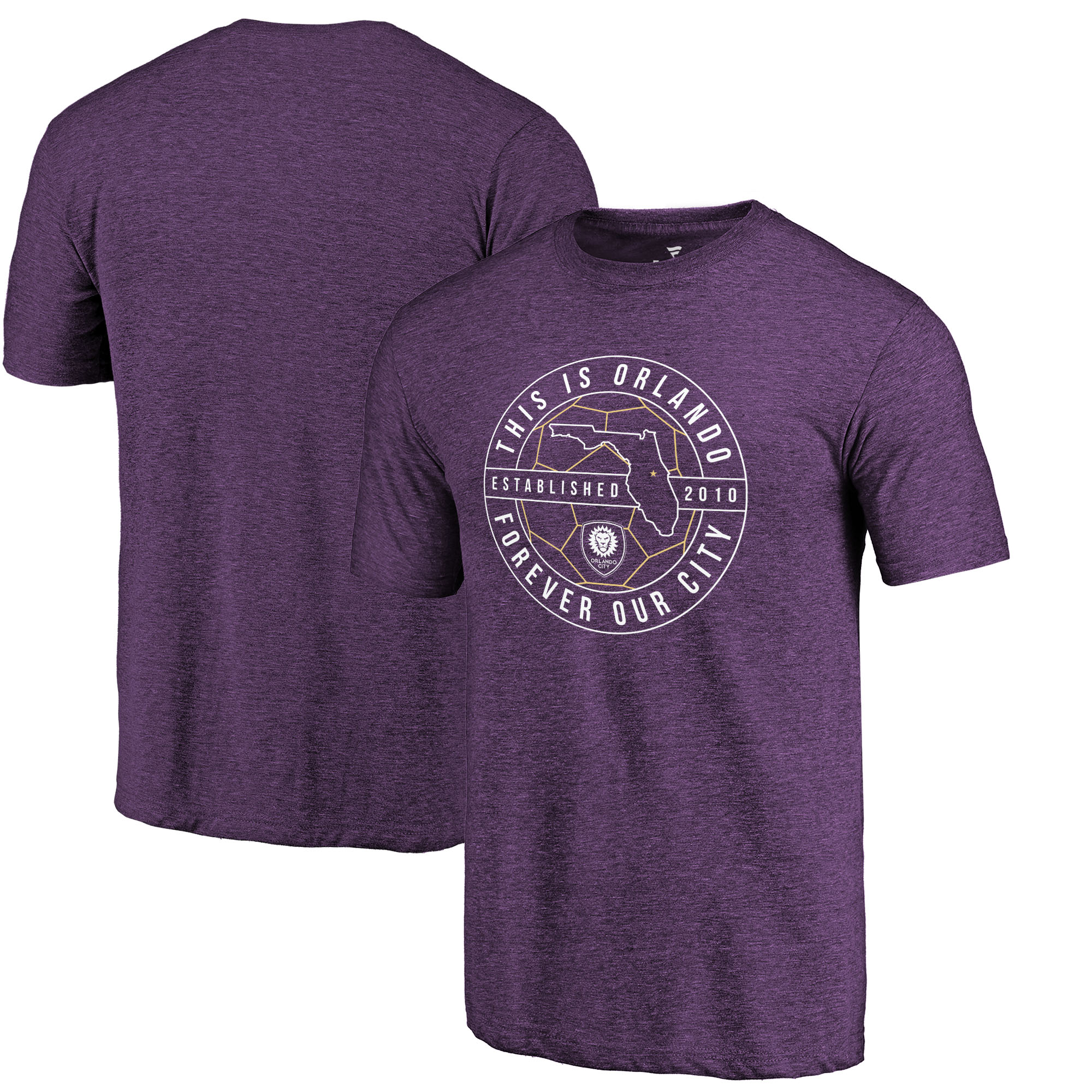 Orlando City SC Fanatics Branded Hometown Collection Tri-Blend T-Shirt - Purple
