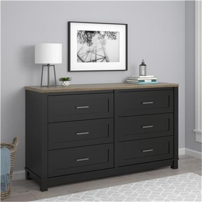 Ameriwood Home Carver 6 Drawer Dresser, Multiple Colors
