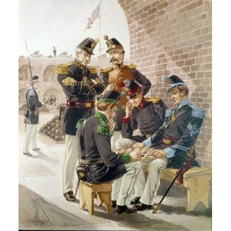 Engineer Foot-rifles Dragoon (Musician) Ogden Henry Alexander (1856-1936American) Canvas Art - Henry Alexander Ogden (18 x 24) (Engineer Footrifles Dragoon Light)