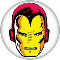 Marvel Comics Iron Man Face Helmet Button 81733