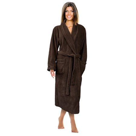 Super Soft Plush Robe (Napa Women's Super Soft Warm Microfiber Fleece Plush Bathrobe Hotel Spa Robe with Pockets )