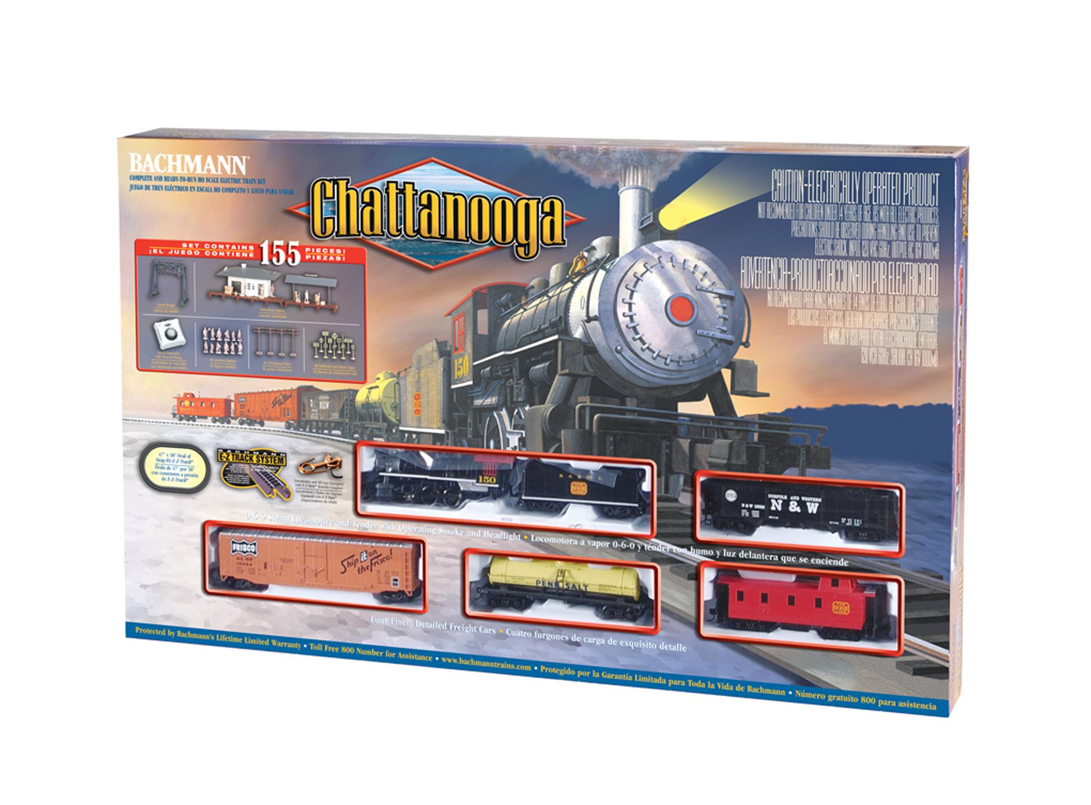 Bachmann Trains Chattanooga HO Scale Ready To Run Electric Train Set by Bachmann Trains